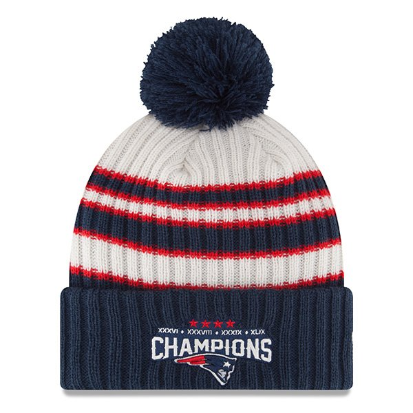 New Era 4 Time Super Bowl Champions Pom Knit