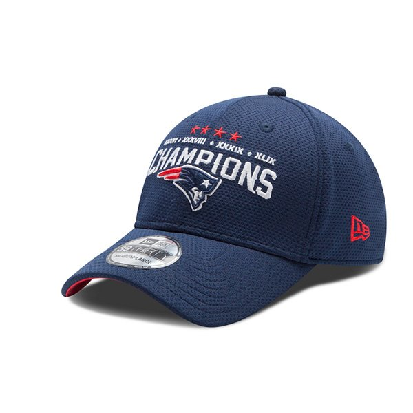 New Era 4 Time Super Bowl Champions 39Thirty Flex Cap-Navy