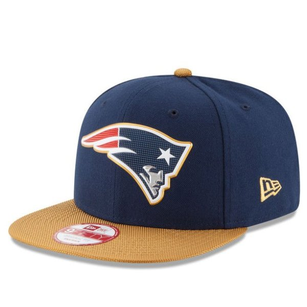 New Era 9Fifty Gold Collection Visor Snapback Cap-Navy