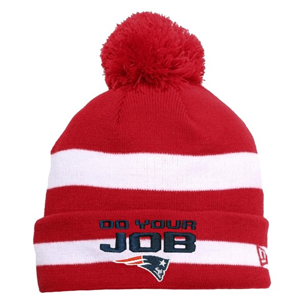 New Era DoYourJob Knit Hat-Red/White