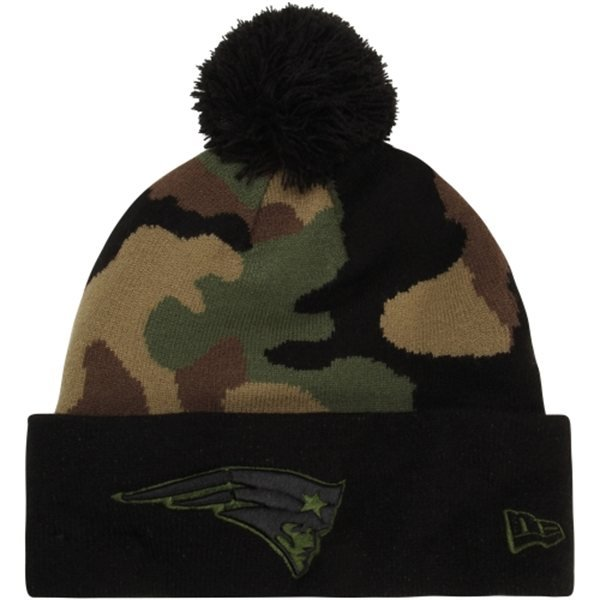 New Era Camo Pom Knit Hat