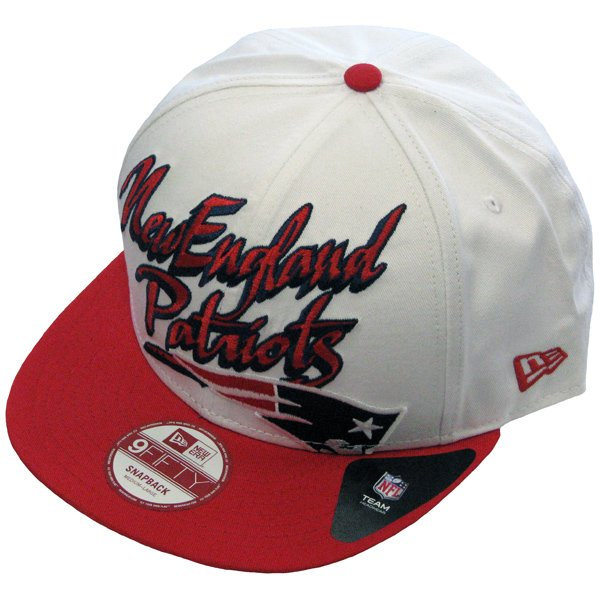 New Era Slant Scribb Snapback-White/Red