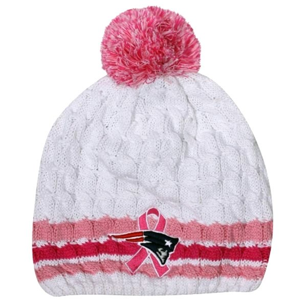 Ladies BCA Knit Hat-White/Pink
