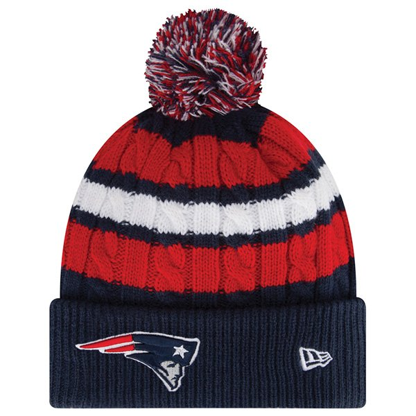 Ladies New Era Wintry Warm Knit-Navy