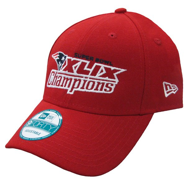 New Era Super Bowl XLIX 9Forty Adjustable Cap-Red