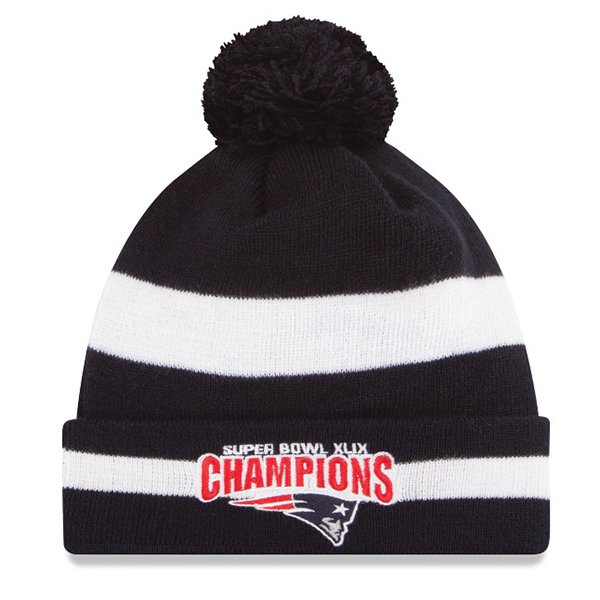 Super Bowl XLIX Champs Knit Hat-Navy/White by New Era