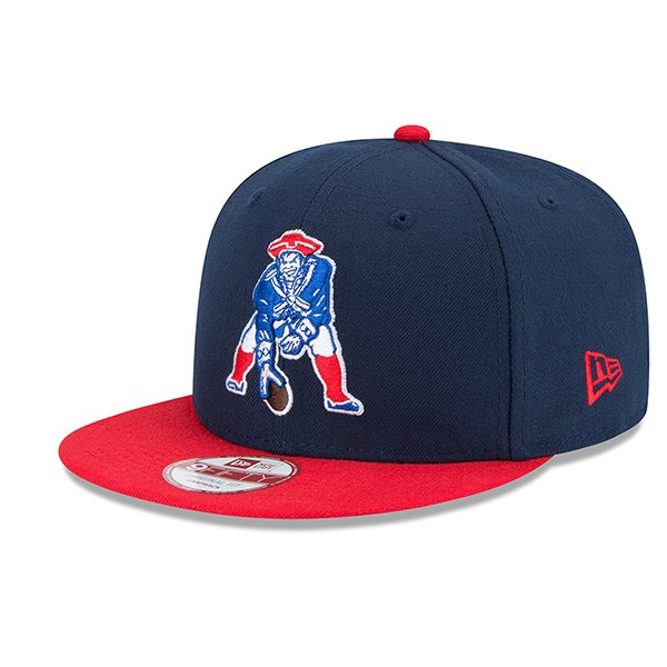 New Era Throwback 9Fifty Baycik Snap Back Cap-Navy/Red