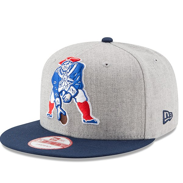 New Era Heather Throwback 9Fifty Snap Cap-Gray