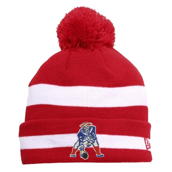 New Era Throwback Striped Pom Knit-Red
