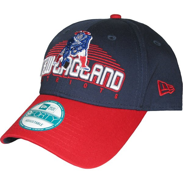 New Era Throwback 9Forty Team Text Cap-Navy/Red