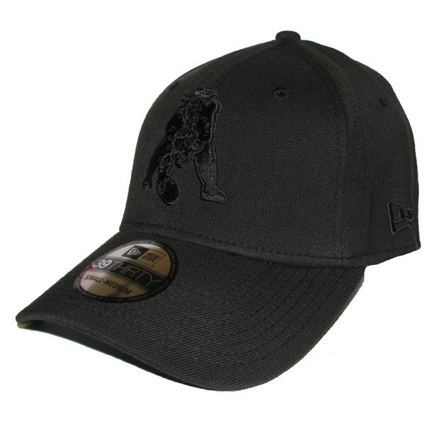 New Era Throwback 39Thirty Tonal Cap-Black