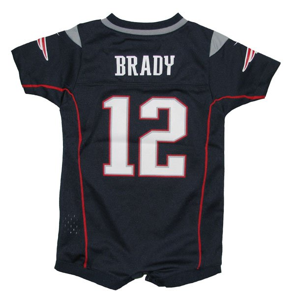 Newborn Tom Brady Romper-Navy