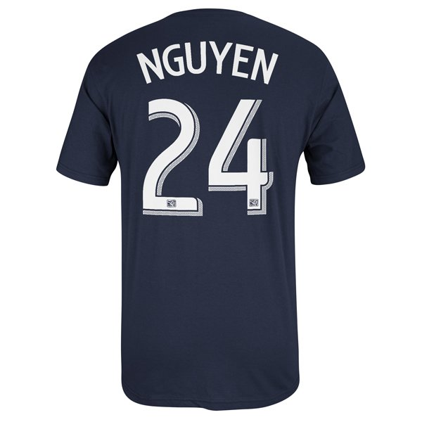 Nguyen #24 Name & Number Tee-Navy