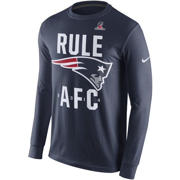 2014 Patriots Rule AFC L/S Tee-Navy