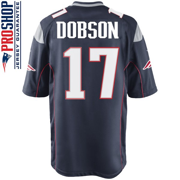 Nike Aaron Dobson #17 Game Jersey-Navy