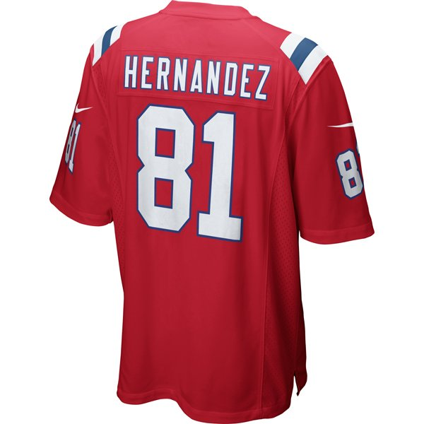 Nike Aaron Hernandez Throwback Game Jersey-Red