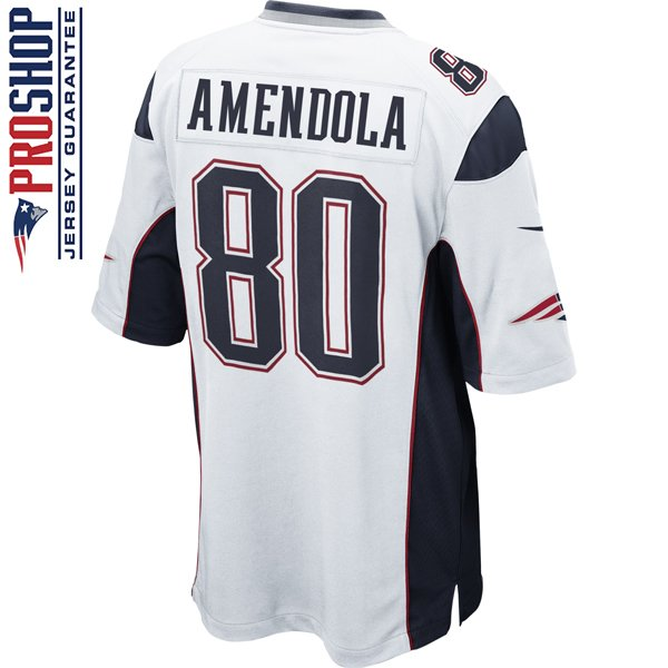 Nike Danny Amendola #80 Game Jersey-White
