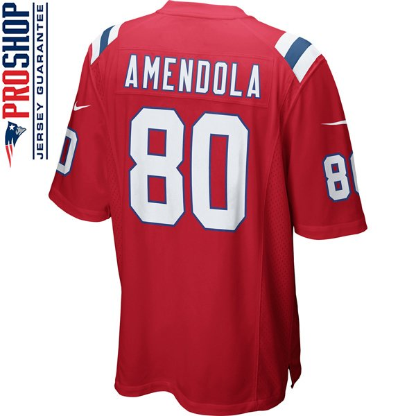 Nike Danny Amendola #80 Throwback Game Jersey-Red