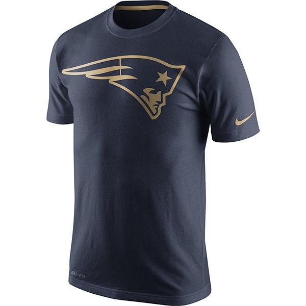 Nike Gold Championship Drive Dri-Fit Tee-Navy