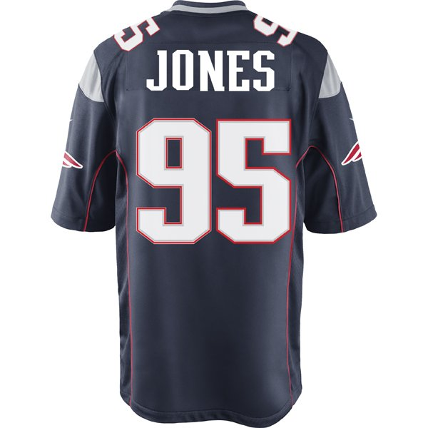 Nike Chandler Jones #95 Game Jersey-Navy