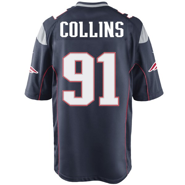 Nike Jamie Collins #91 Game Jersey-Navy