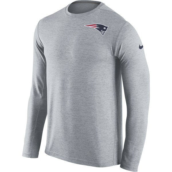 Nike Dri-Fit Touch Long Sleeve Top-Gray