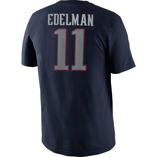 Nike Julian Edelman Name & Number II Tee-Navy