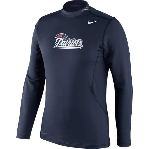 Nike Combat Hyperwarm Long Sleeve Top-Navy
