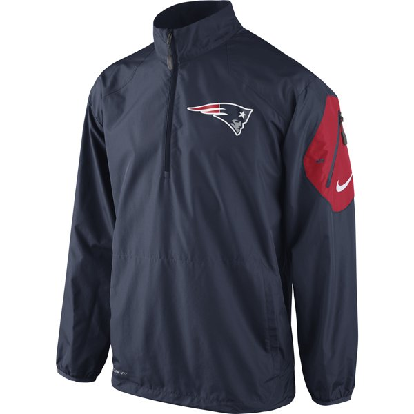 Nike Lockdown 1/2 Zip Jacket-Navy/Red