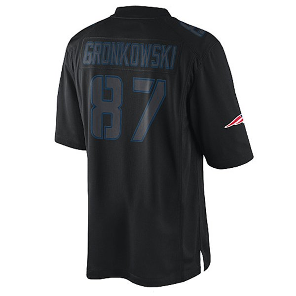 Nike Rob Gronkowski #87 Impact Jersey-Black