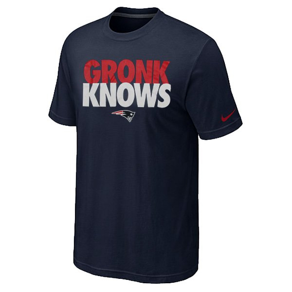 Gronk Knows Tee-Navy