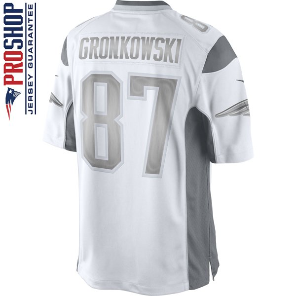 Nike Rob Gronkowski #87 Limited Platinum Jersey