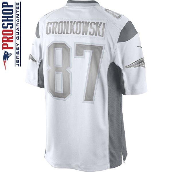 Nike Rob Gronkowski #87 Limited Platinum Jersey