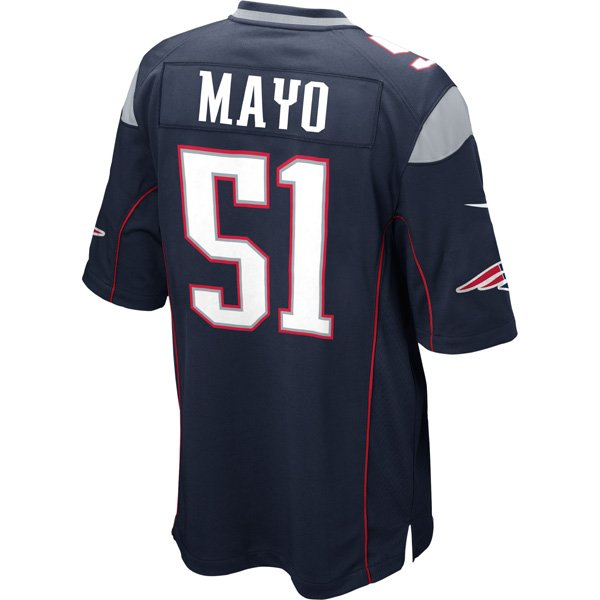 Nike Jerod Mayo #51 Game Jersey-Navy