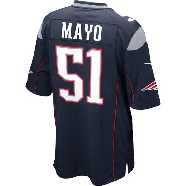 Nike Jerod Mayo #51 Game Jersey-Navy
