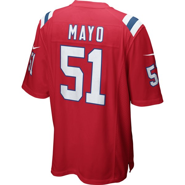 Nike Jerod Mayo #51 Throwback Game Jersey-Red