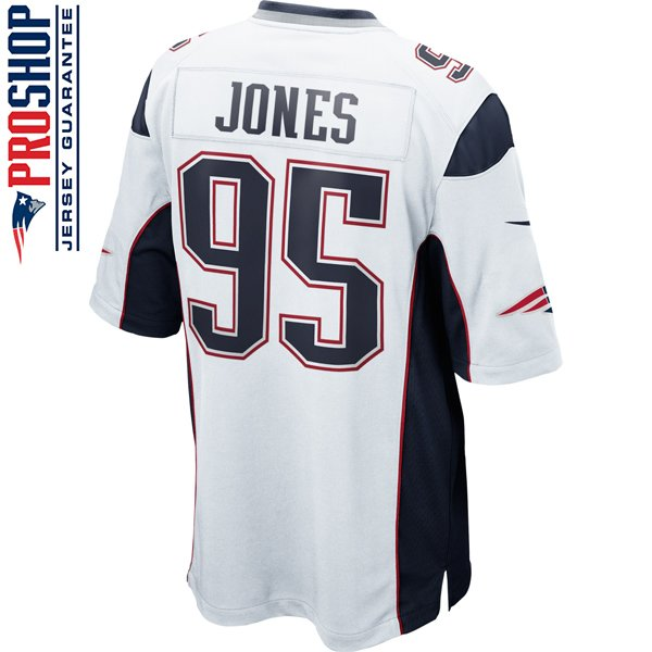 Nike Chandler Jones #95 Game Jersey-White