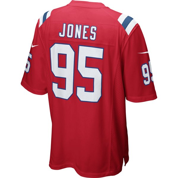 Nike Chandler Jones #95 Throwback Game Jersey-Red