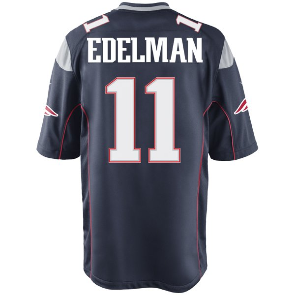 2014 Nike Julian Edelman #11 Game Jersey - Navy