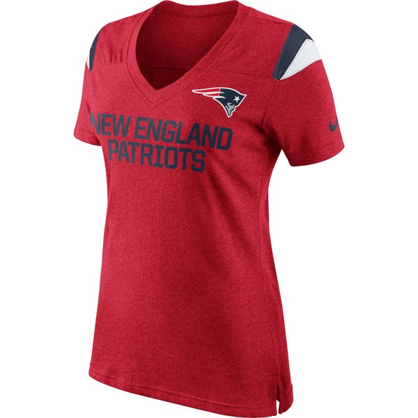 Ladies Nike Fan Top-Red