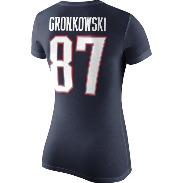 2014 Nike Ladies Gronkowski Name and Number Tee