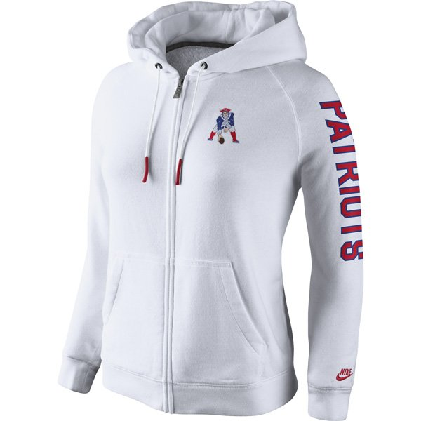 Ladies Nike Throwback Rally Full Zip Hood-White