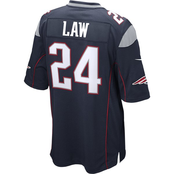 Nike Ty Law #24 Game Jersey-Navy