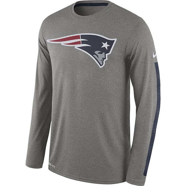 Nike Legend Logo Long Sleeve Tee-Gray