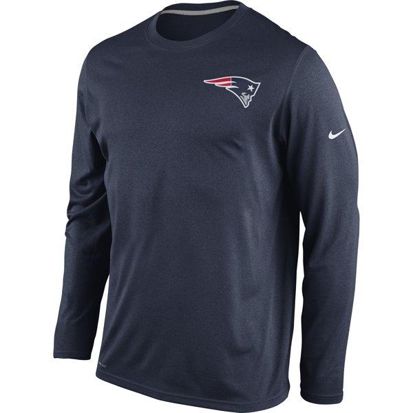 Nike Legend Long Sleeve Practice Tee-Navy