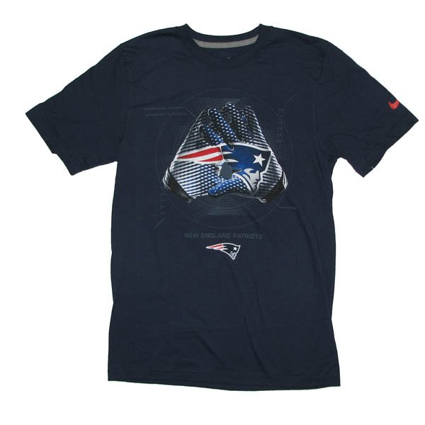 Patriots Nike Lockup Glove Tee-Navy