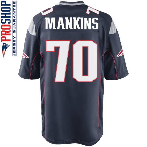 Nike Logan Mankins #70 Game Jersey-Navy