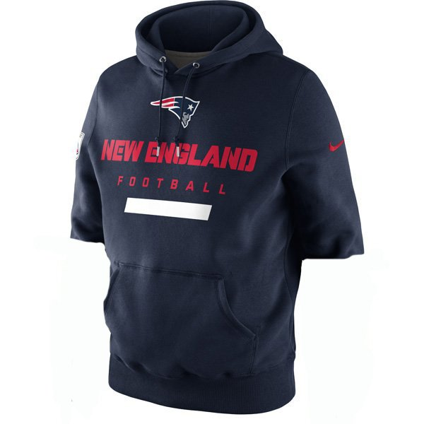 Nike Property of Patriots Hood-Navy w/Cut Sleeves