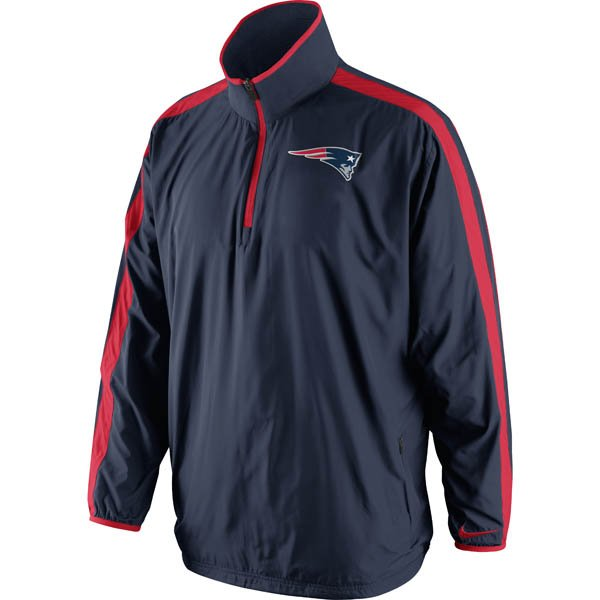 Nike 1/4 Zip Coaches Woven Jacket-Navy/Red