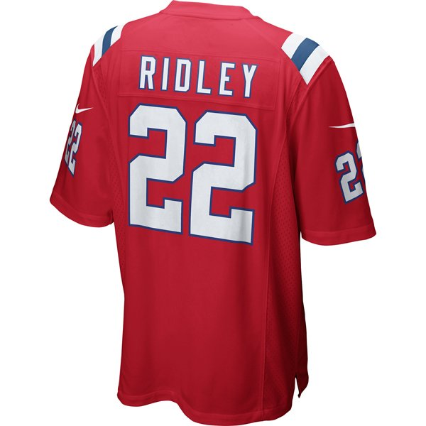 Nike Stevan Ridley #22 Throwback Game Jersey-Red